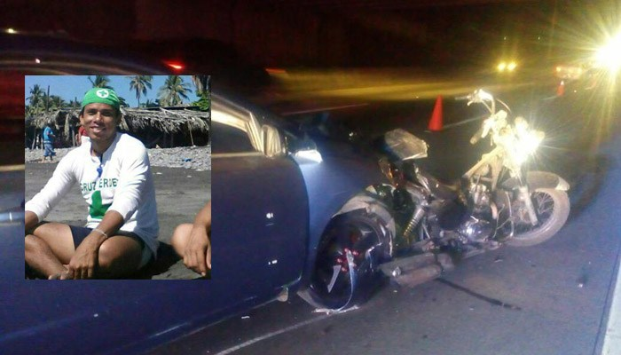 Accidente blvd monseñor romero - Roberto, el joven guardavidas que falleció en la Monseñor Romero.